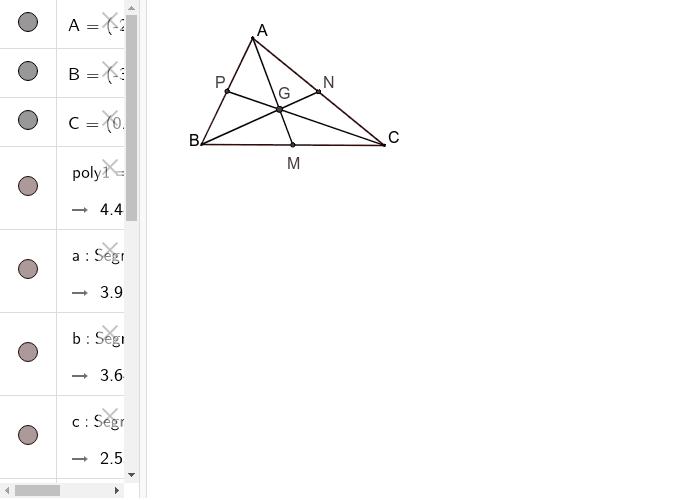 Medianele triunghiului