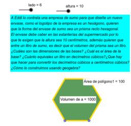 Volumen de Hexagono de un litro de sumo