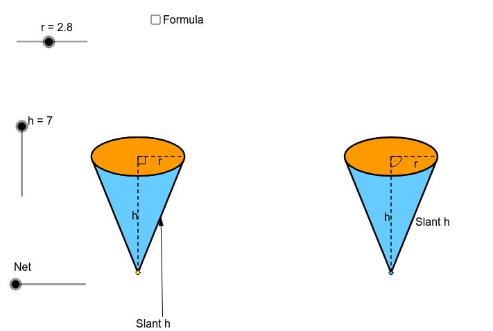 Net of a Cone (Pyramid with a circular base) Press Enter to start activity