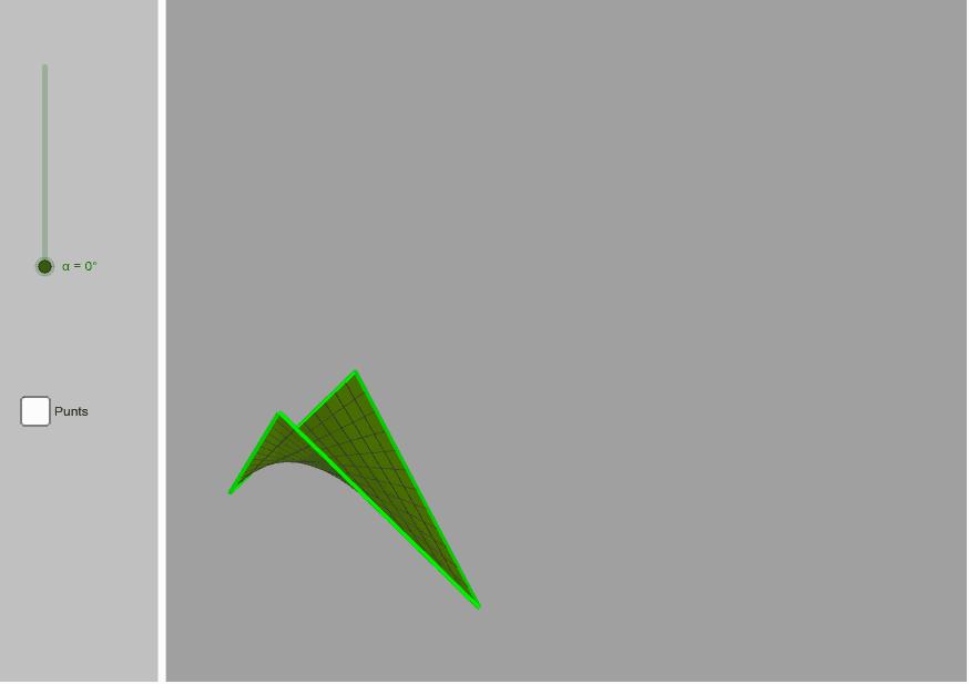 El full de paper que vola. Podeu modificar la posició dels punts.