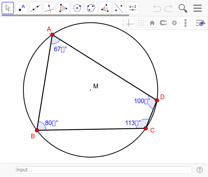 Eigenschaften von Vierecken mit Umkreis