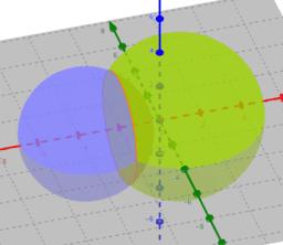 Posició relativa de dues esferes