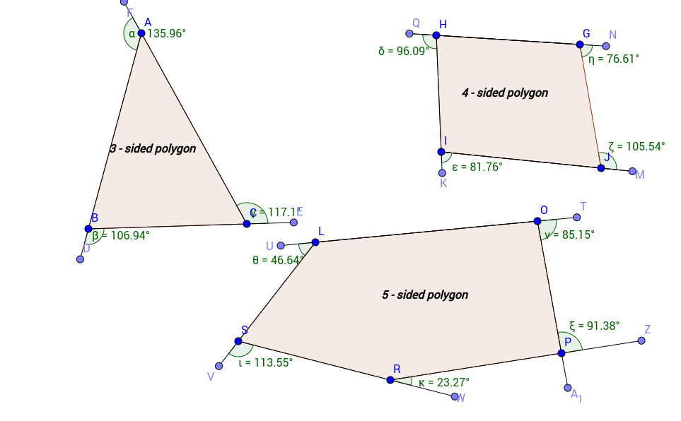 CER: Sum on Exterior Angles
