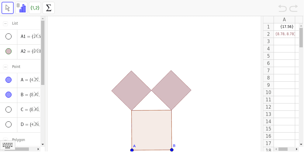 select A2 and drag&drop the little right-down blue square