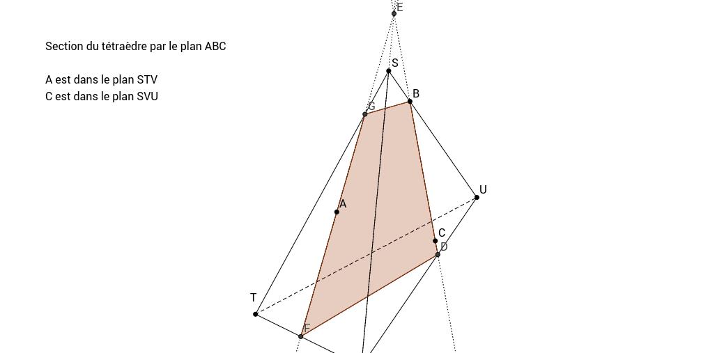 ch14 ex 13 1 section d'un tétraèdre par un plan