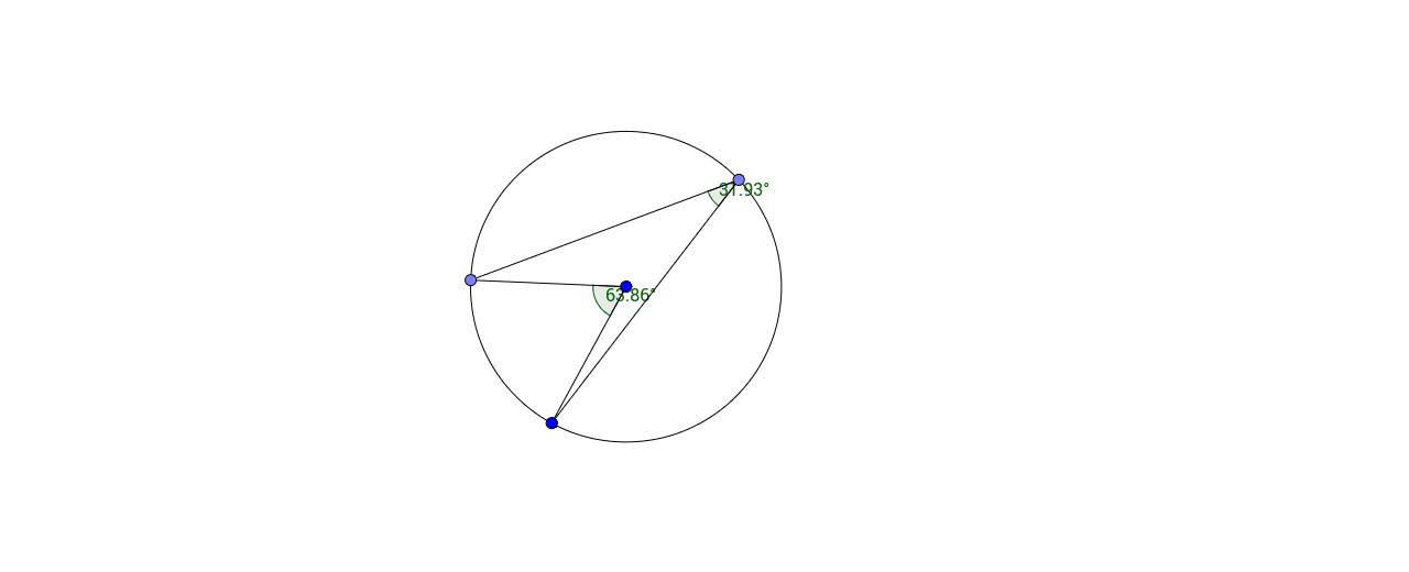 Circle theorem: angle at centre Press Enter to start activity