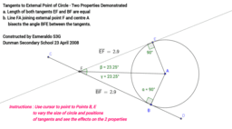 Angle Properties of Tangents To Circles
