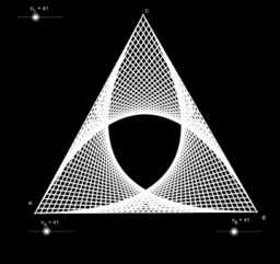 Strings in a triangle