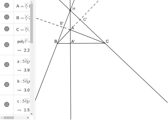 Inaltimile in triunghiul obtuzunghic