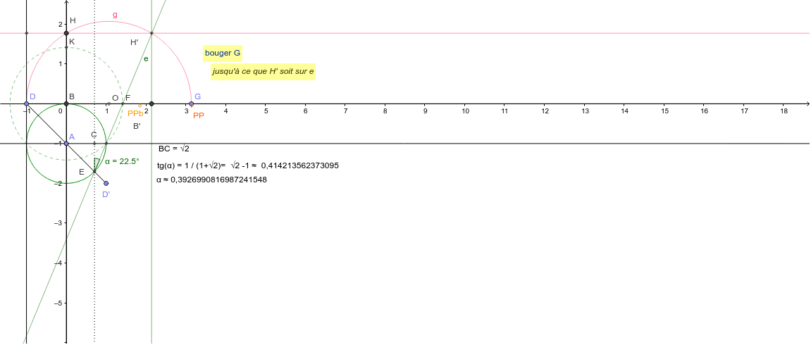 """quasi-quadrature du cercle : 'presque' PI et sqrt(PI)  Tapez """"Entrée"""" pour démarrer l'activité"""