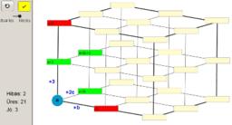 Algebrai kifejezések összeadása a térbeli modellen.