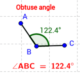 Animated view of obtuse angles.