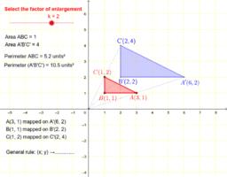 Dilation: enlargement or reduction