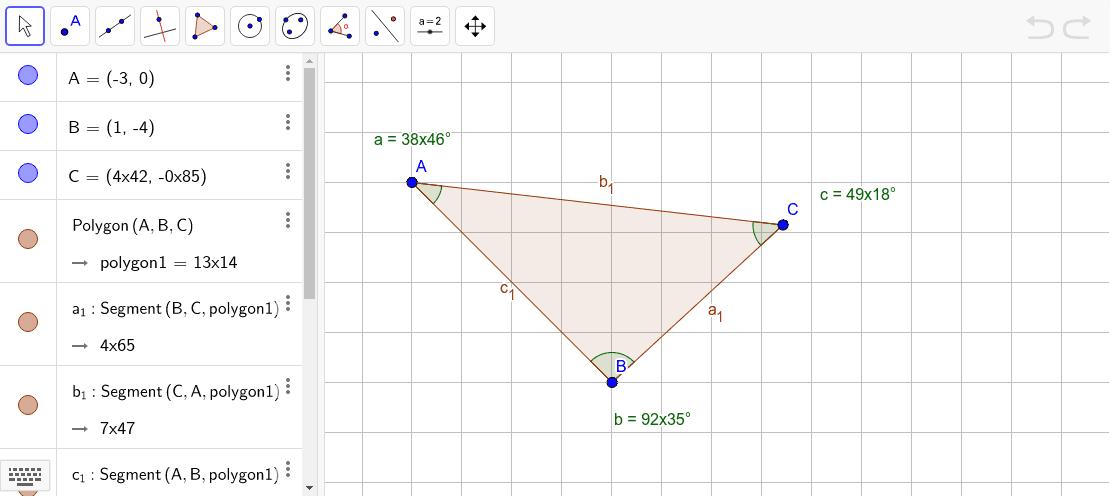 Vinkelsum i trekant