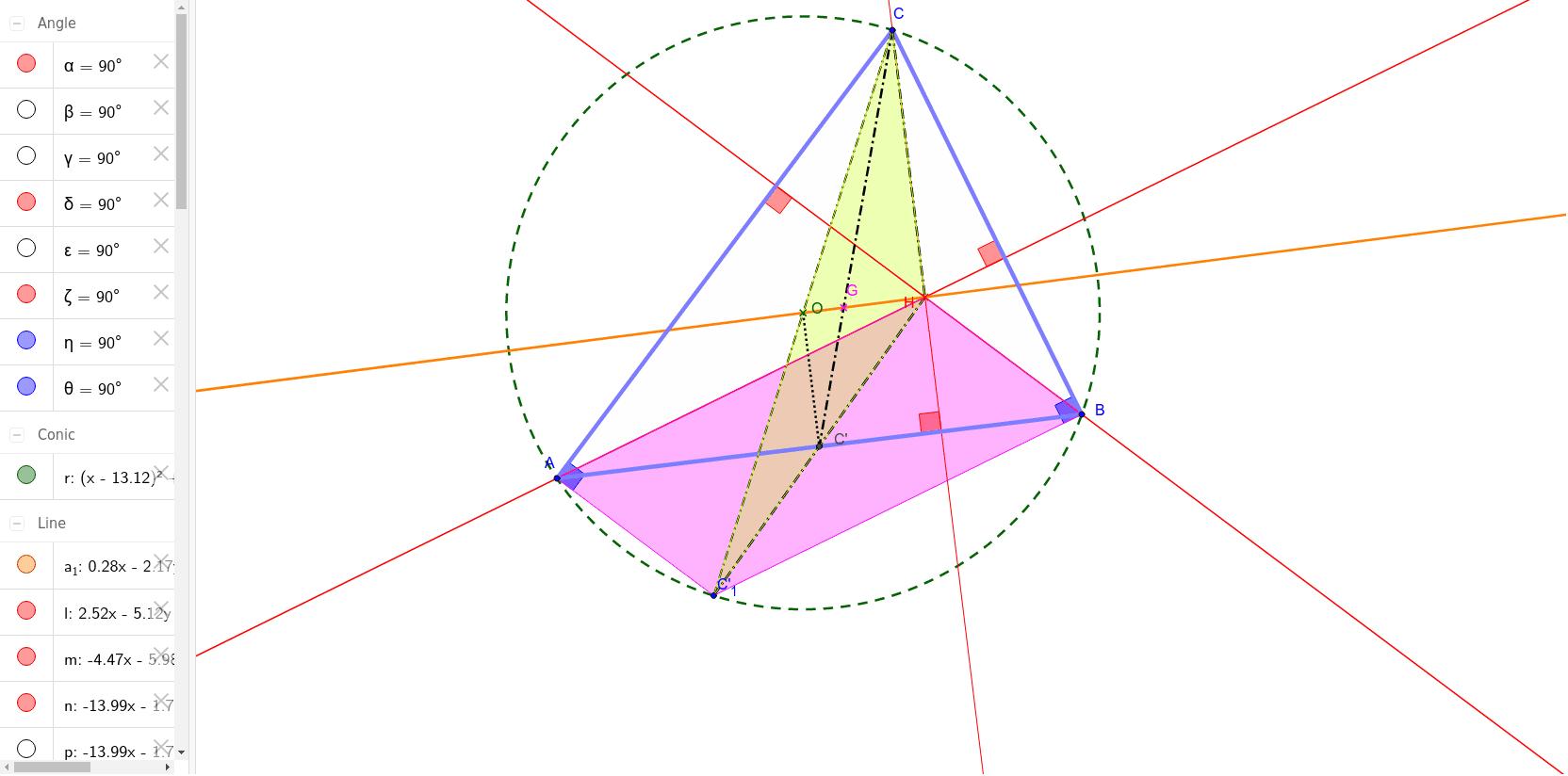 droite d'Euler démonstration collège