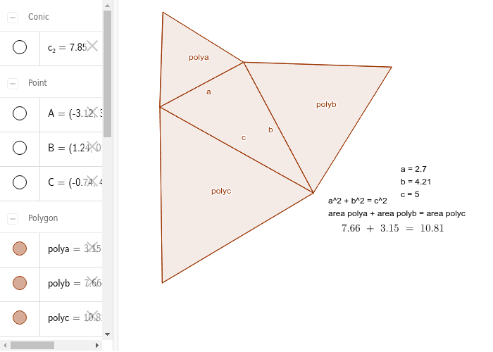 Pythagorean Theorem with other Similar Polygon (Triangle)