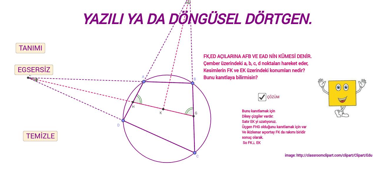 TR KAY YAZILI YA DA DÖNGÜSEL DÖRTGEN Press Enter to start activity