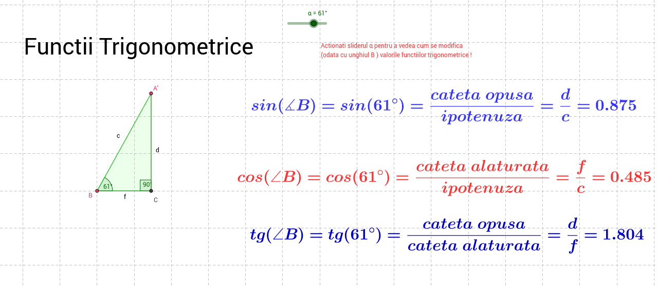 Trigonometric Functions ( for middle school )