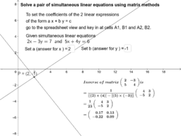 Matrix Method Simultaneous Linear Equation Question Setter