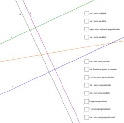 Verifica: rette parallele e rette perpendicolari
