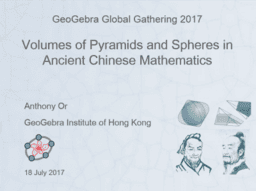 Volumes of Pyramid and Sphere in Ancient Chinese Mathematics