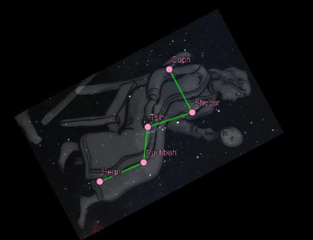 Doc. 1 : Constellation de Cassiopée