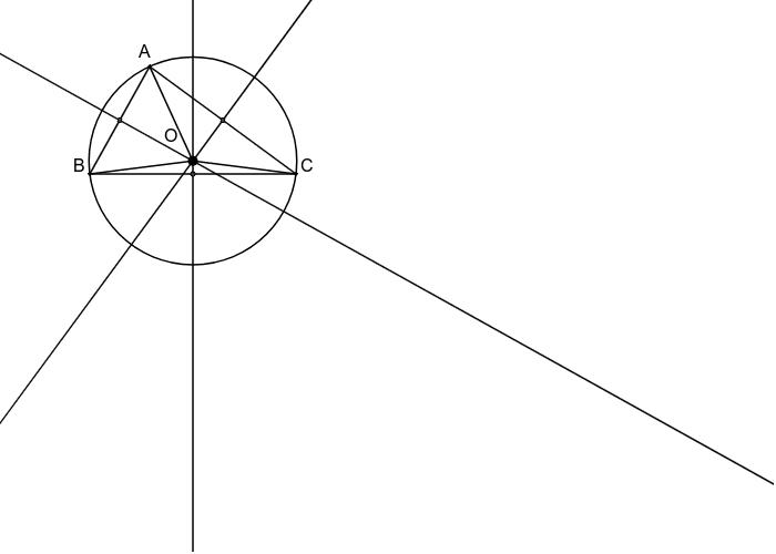 Mediatoarele triunghiului
