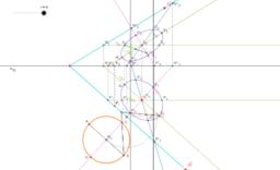Mongeovo promítání - kružnice v rovině