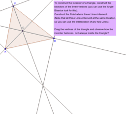 The Incenter of a Triangle