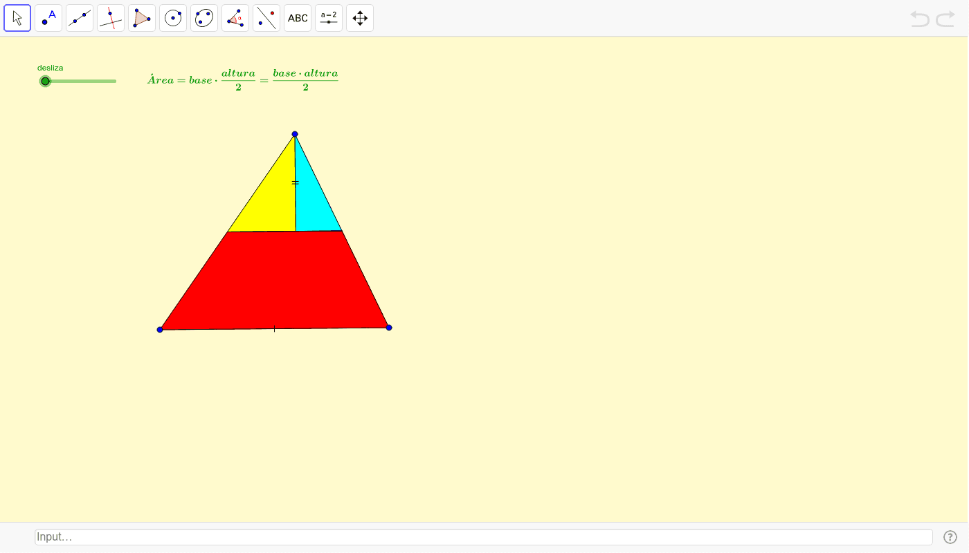 Área dun triángulo