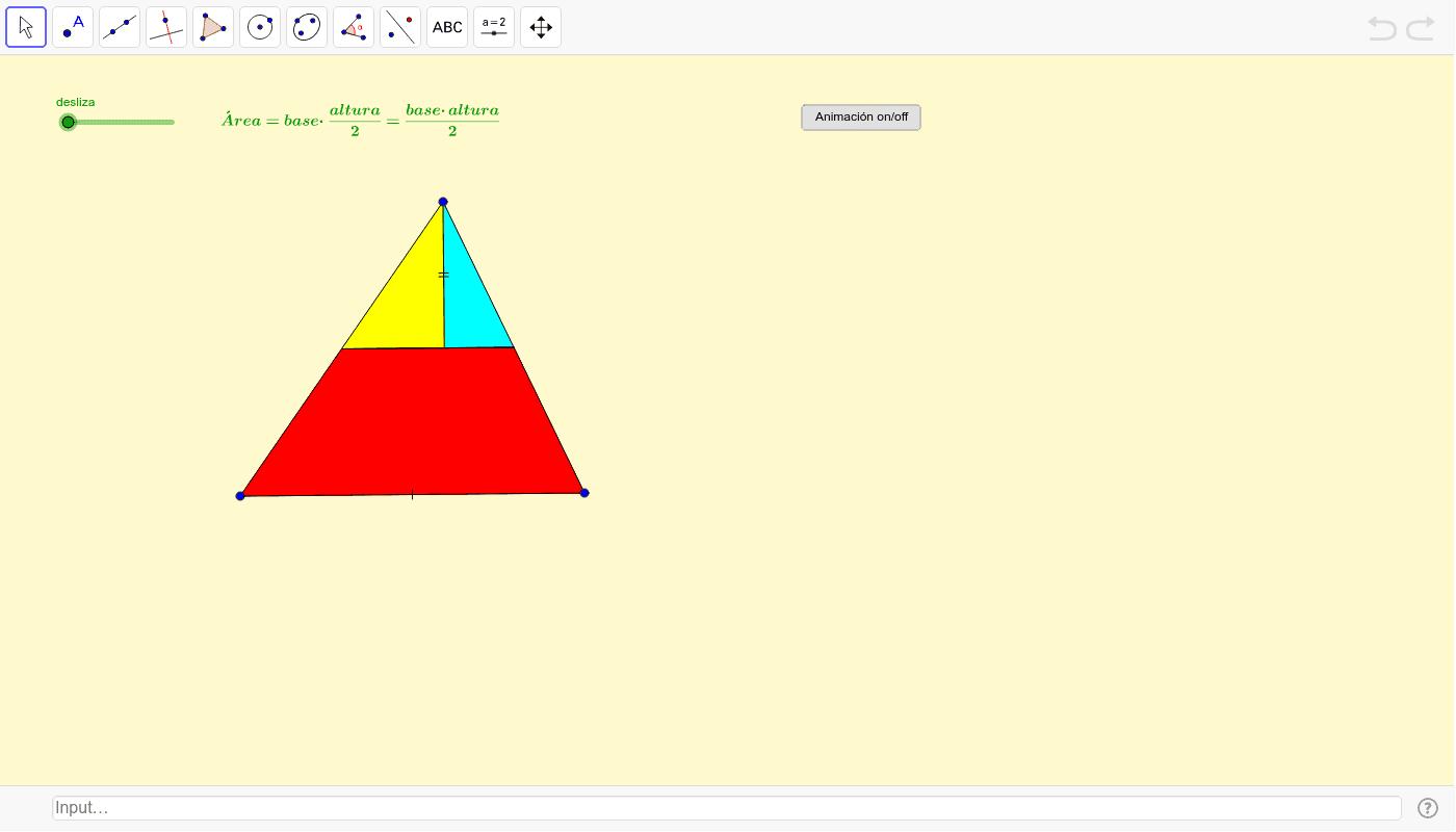 Área dun triángulo Press Enter to start activity