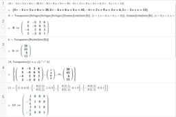 Gauss-Algorithmus 4x4 Zeilentausch-Matrizen