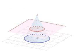 Section d'un cône