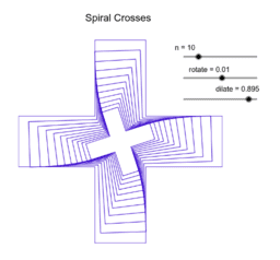 Spiral Crosses - a rotation and dilation exercise