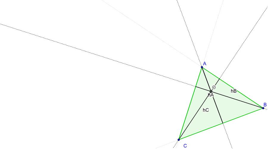 L'ortocentre és el punt on es tallen les tres altures d'un triangle.