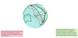 Simulación navegación en planeta tierra a partir de triángulos esféricos