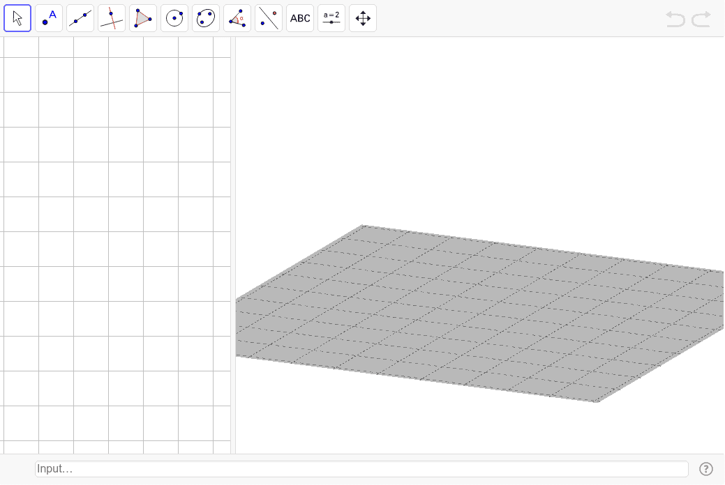 Amb la barra d'eines completa i la línia d'Entrada visible per afegir elements