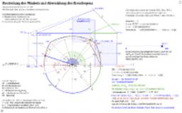 Dreiteilung des Winkels mit Abwicklung des Kreisbogens
