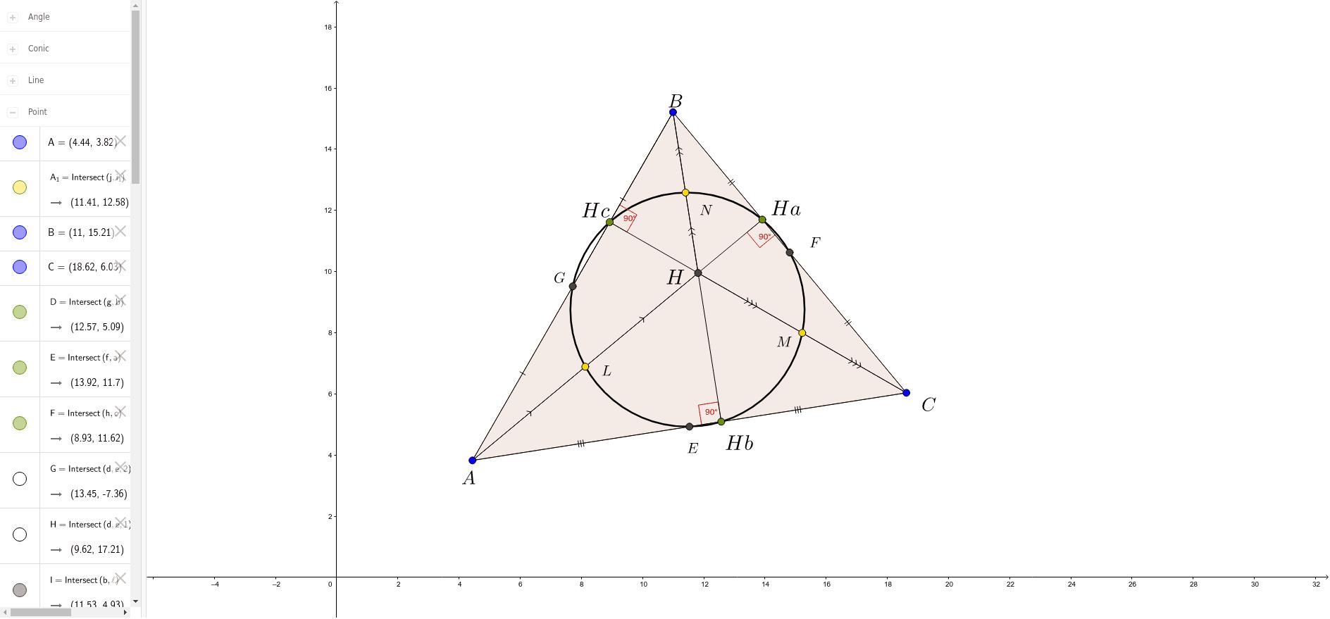 Окружность девяти точек (Сергей Овчинников)