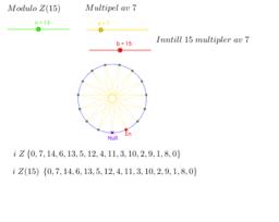 Modulo regning - restklasse