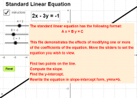 Linear Function--Standard Form
