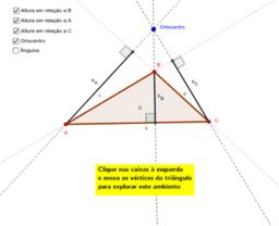 Altura de um Triângulo em relação a um de seus lados