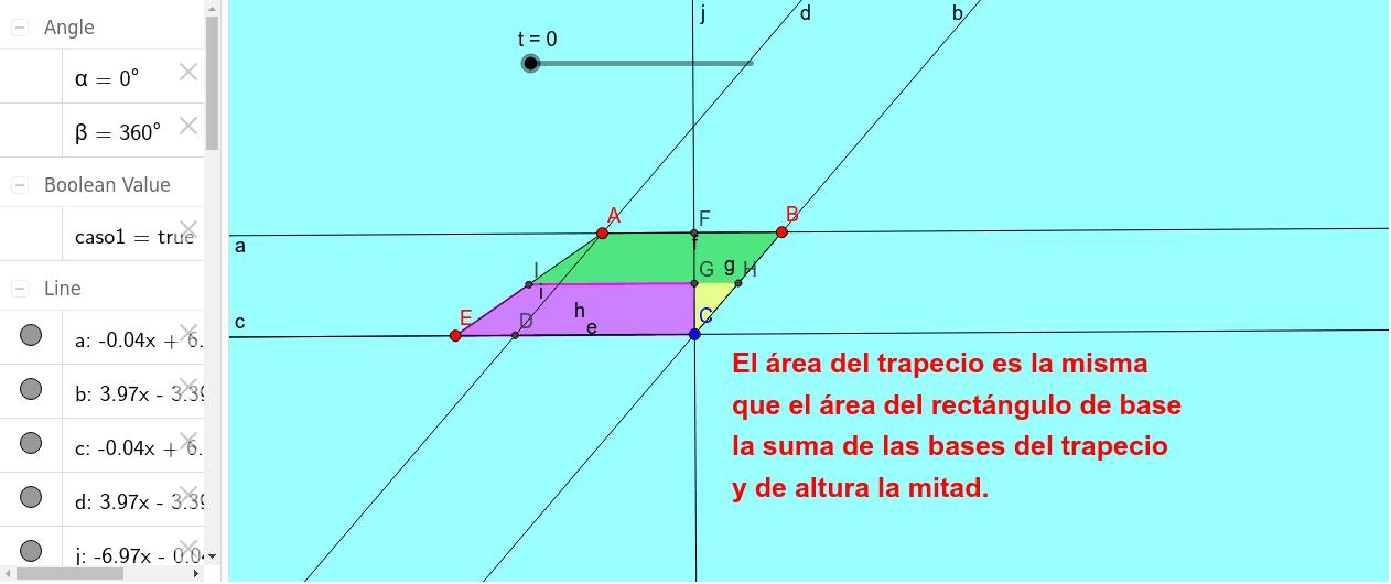 TRAPECIO Y RECTÁNGULO DE IGUAL ÁREA