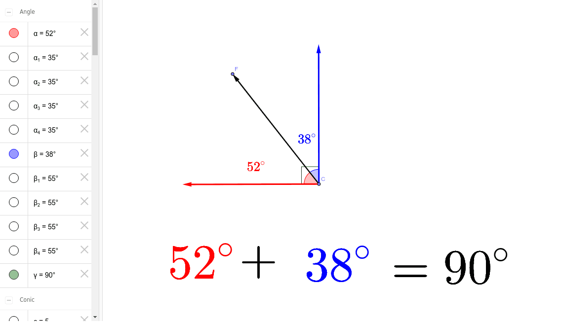 Complementary Angles Press Enter to start activity