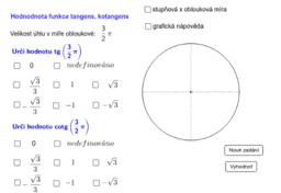 Určování hodnot tangens a kotangens