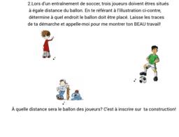 Exercice #2 problème du soccer