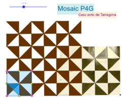 Mosaic P4G. Vestíbul d'una casa del Casc antic de Tarragona