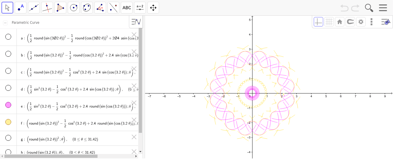 riferimento: https://help.geogebra.org/topic/coloring-of-a-closed-area