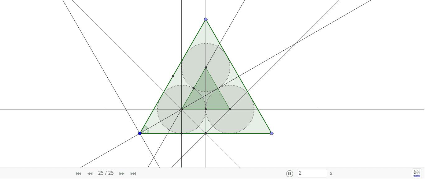 Proporcionalidad de triángulos.