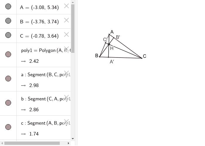 Inaltimile in triunghiul ascutitunghic
